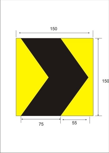 Rubber Column guards with reflective strips - 1 Mtr